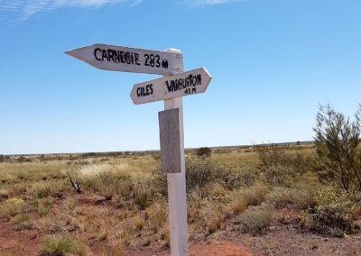 Historical signs - Gunbarrel Highway