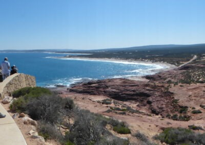Red Bluff with a view of part of the Coral Coast - Kalbarri NP