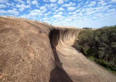 Wave Rock - a granite inselberg - Hyden