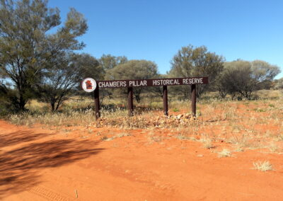 Entrance to Chambers Pillar Historical Reserve - Northern Territory